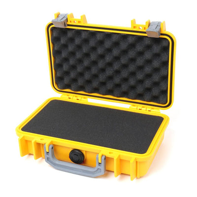 Pelican 1170 Colors Series, Yellow Protector Case with Silver Gray Handle & Latches, Customizable Accessory Bundles - Pelican Color Case