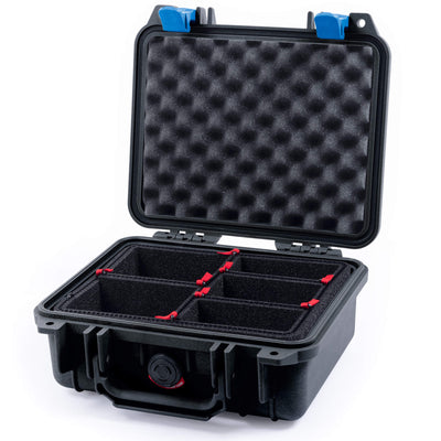 Pelican 1200 Case, Black with Blue Handle & Latches - Pelican Color Case
