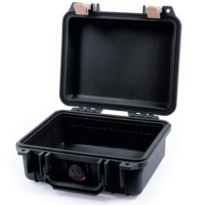 Pelican 1200 Case, Black with Desert Tan Handle & Latches - Pelican Color Case