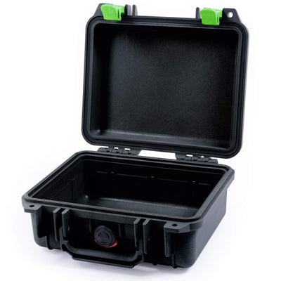 Pelican 1200 Case, Black with Lime Green Handle & Latches - Pelican Color Case