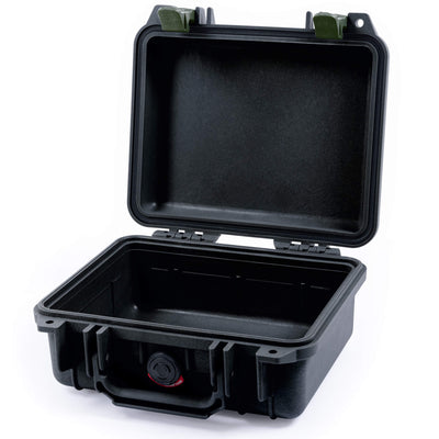 Pelican 1200 Case, Black with OD Green Handle & Latches - Pelican Color Case