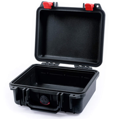 Pelican 1200 Case, Black with Red Handle & Latches - Pelican Color Case