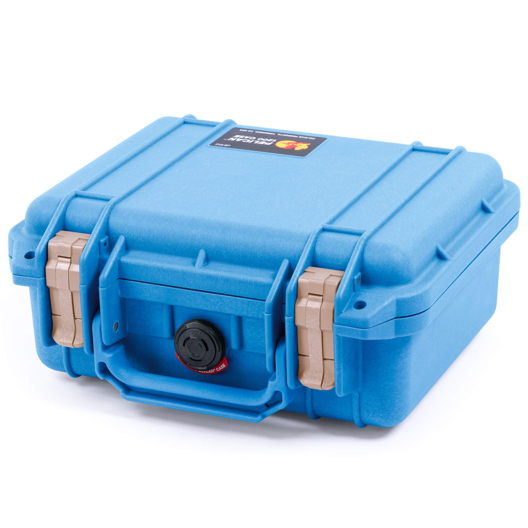 Pelican 1200 Case, Blue with Desert Tan Handle & Latches - Pelican Color Case
