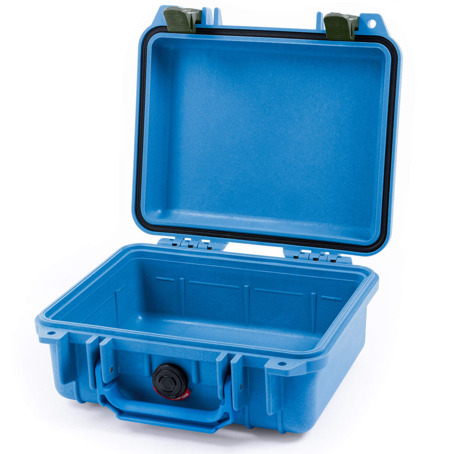 Pelican 1200 Case, Blue with OD Green Handle & Latches