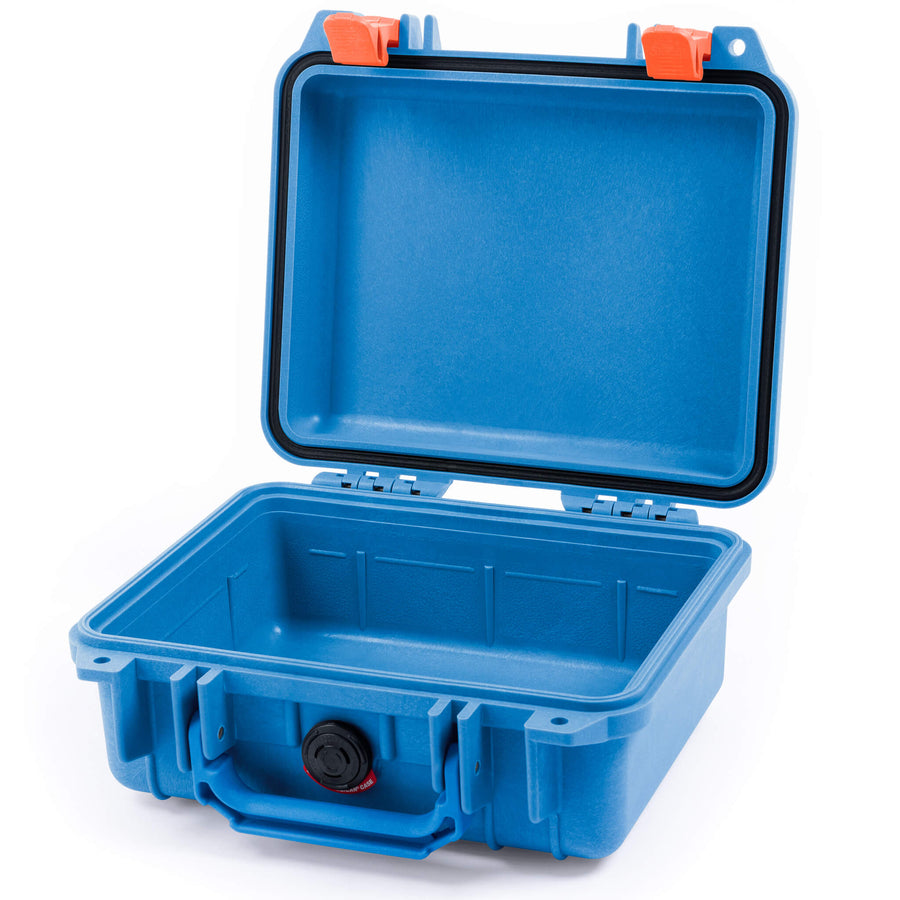 Pelican 1200 Case, Blue with Orange Handle & Latches