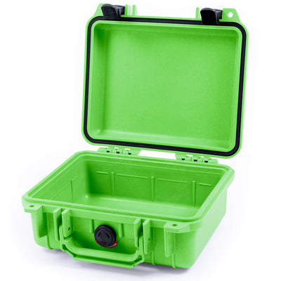 Pelican 1200 Case, Lime Green with Black Handle & Latches - Pelican Color Case