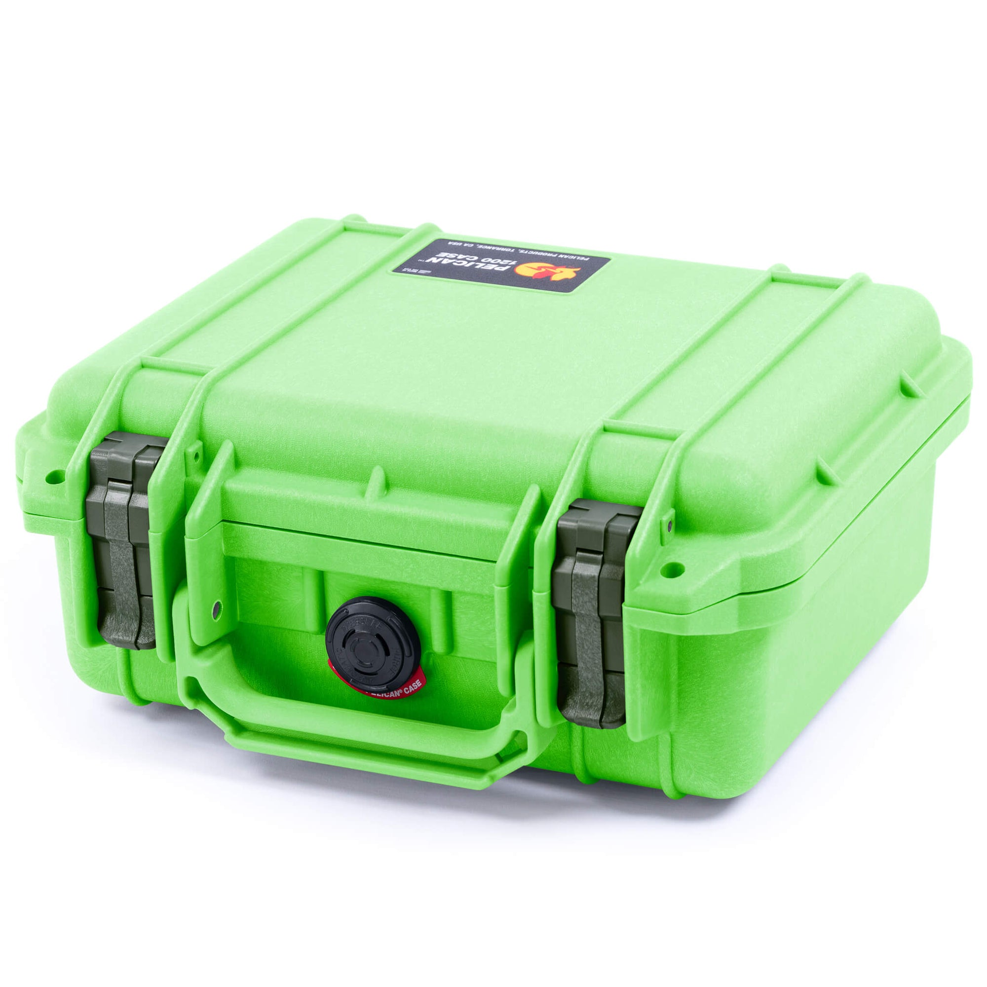 Pelican 1200 Case, Lime Green with OD Green Handle & Latches - Pelican Color Case