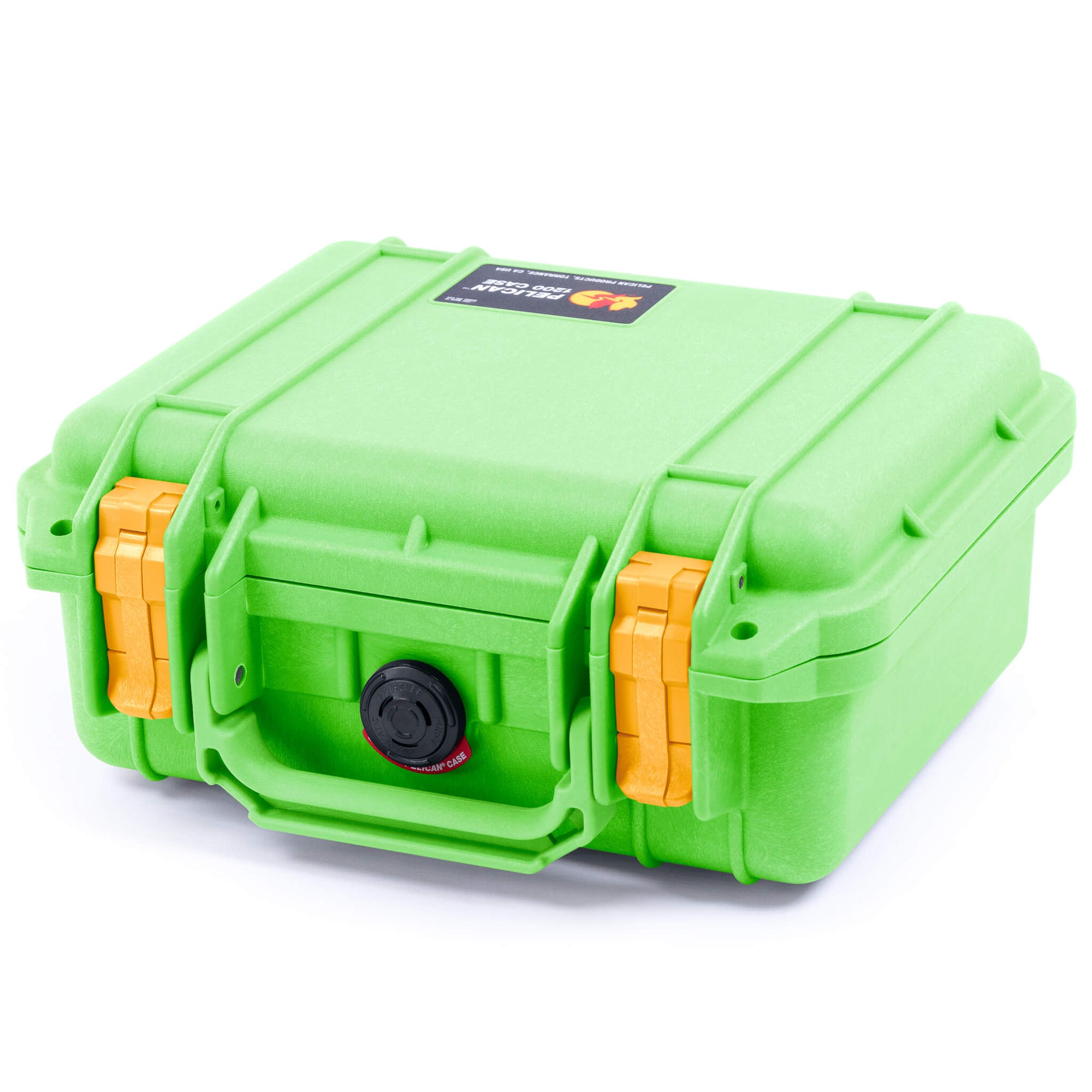 Pelican 1200 Case, Lime Green with Yellow Handle & Latches - Pelican Color Case