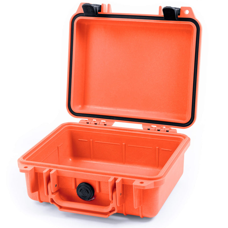 Pelican 1200 Case, Orange with Black Handle & Latches - Pelican Color Case