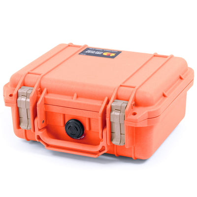 Pelican 1200 Case, Orange with Desert Tan Handle & Latches - Pelican Color Case