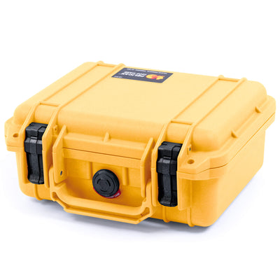 Pelican 1200 Case, Yellow with Black Handle & Latches - Pelican Color Case