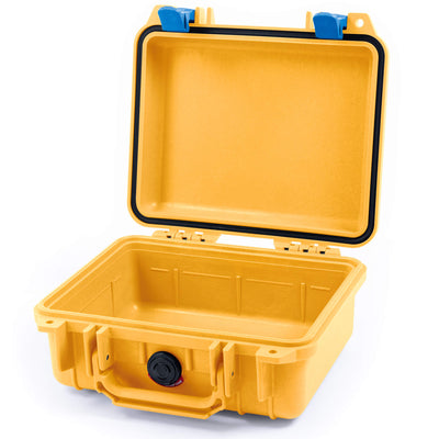 Pelican 1200 Case, Yellow with Blue Handle & Latches - Pelican Color Case