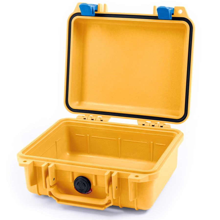 Pelican 1200 Case, Yellow with Blue Handle & Latches