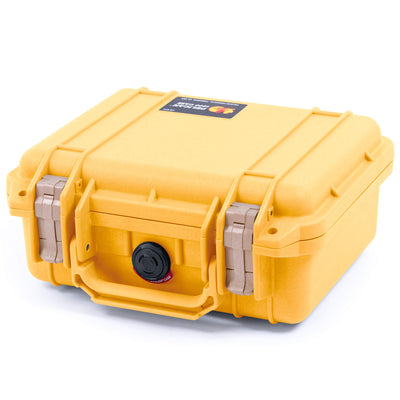 Pelican 1200 Case, Yellow with Desert Tan Handle & Latches - Pelican Color Case