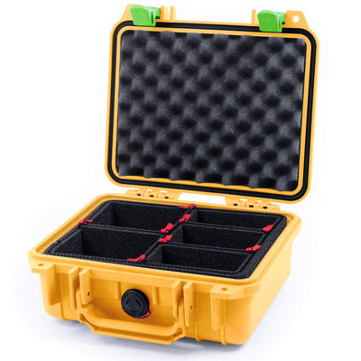 Pelican 1200 Case, Yellow with Lime Green Handle & Latches - Pelican Color Case
