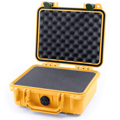 Pelican 1200 Case, Yellow with OD Green Handle & Latches - Pelican Color Case