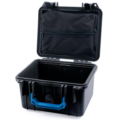 Pelican 1300 Case, Black with Blue Handle - Pelican Color Case