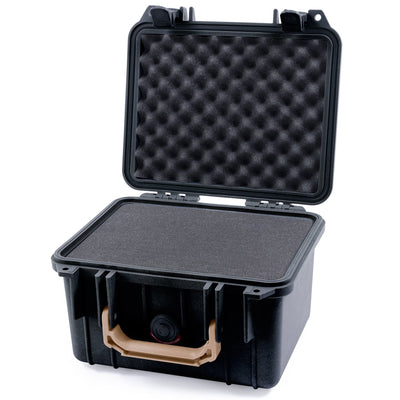 Pelican 1300 Case, Black with Desert Tan Handle - Pelican Color Case