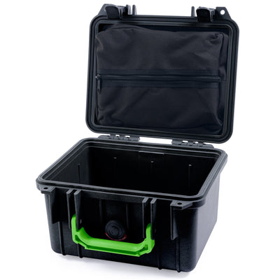 Pelican 1300 Case, Black with Lime Green Handle - Pelican Color Case