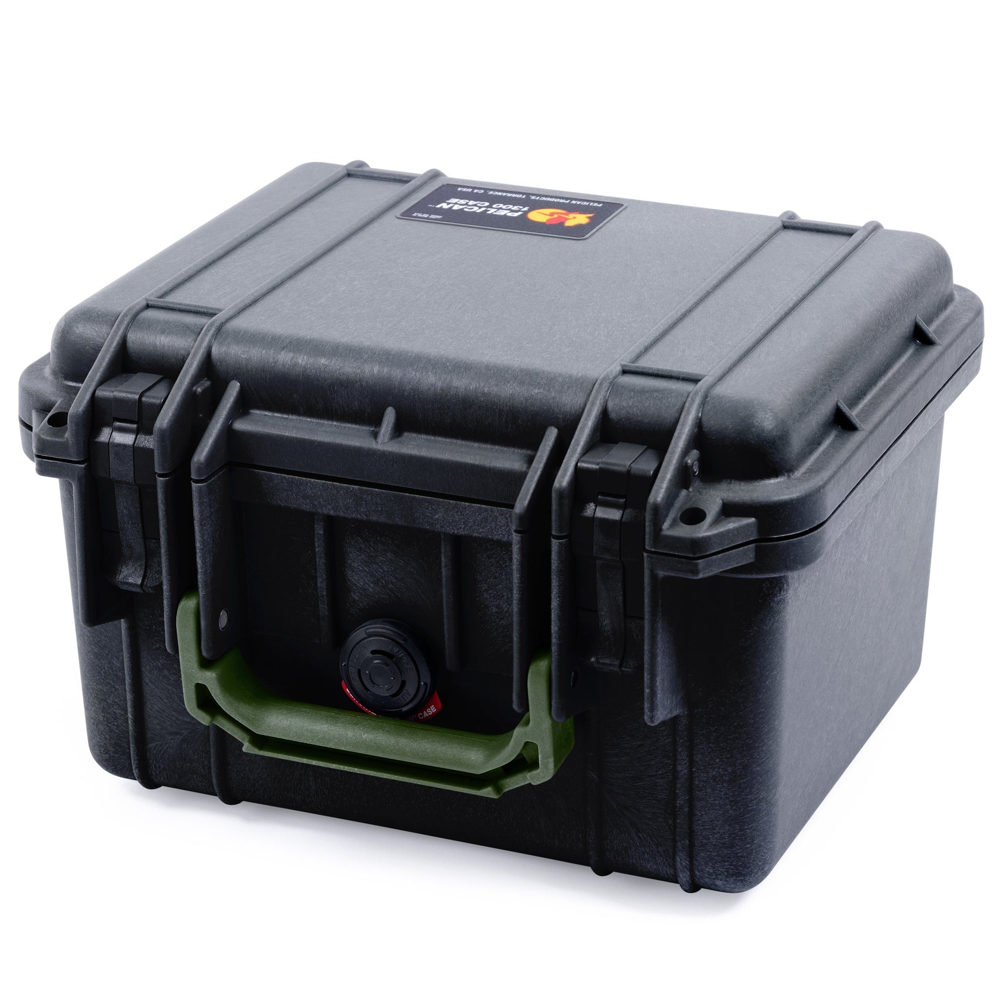 Pelican 1300 Case, Black with OD Green Handle - Pelican Color Case