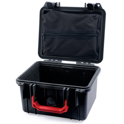 Pelican 1300 Case, Black with Red Handle - Pelican Color Case
