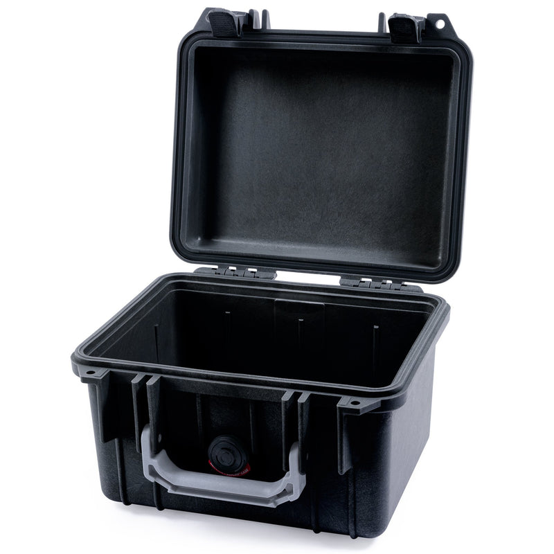 Pelican 1300 Case, Black with Silver Handle - Pelican Color Case