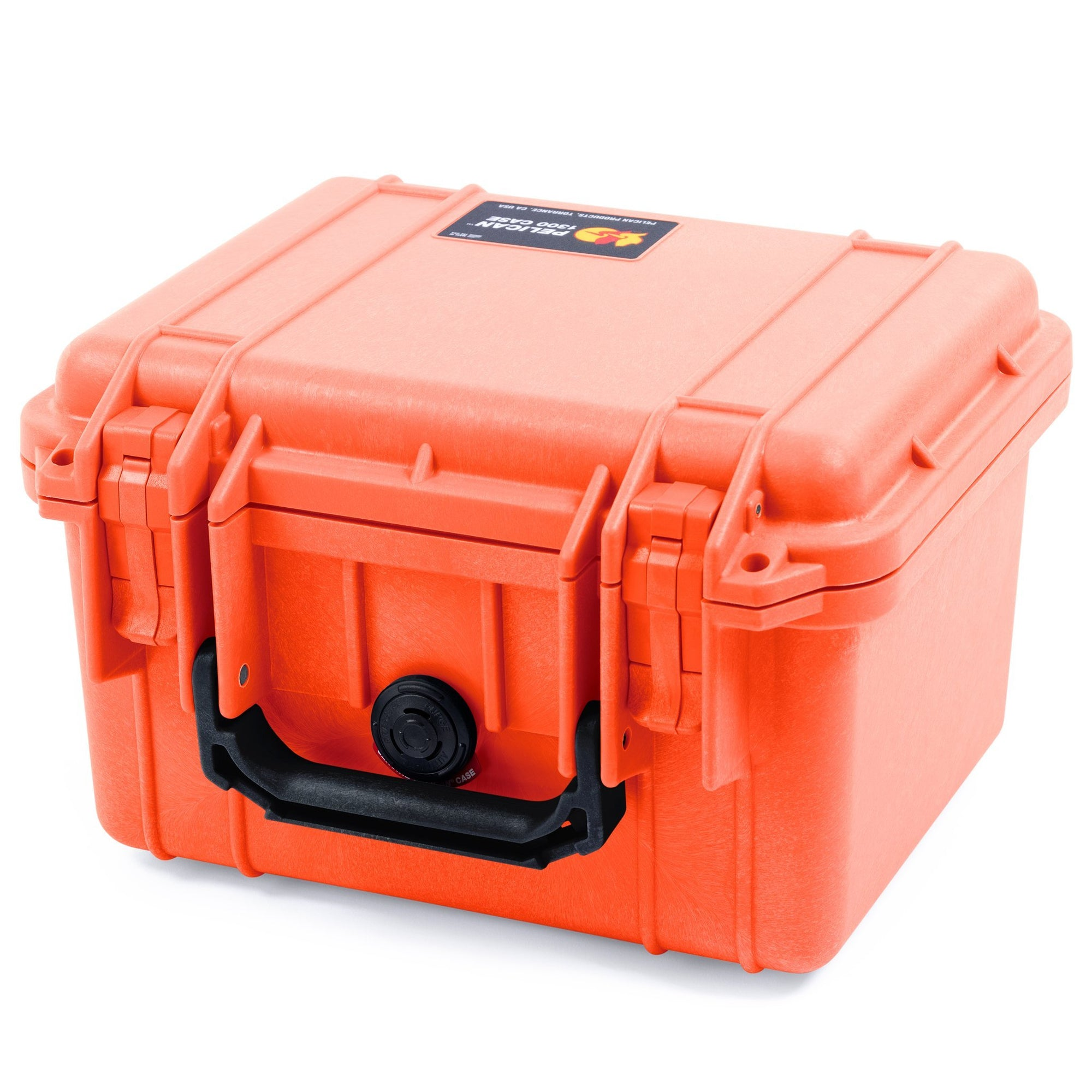 Pelican 1300 Case, Orange with Black Handle - Pelican Color Case