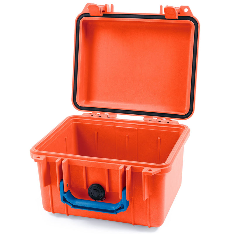 Pelican 1300 Case, Orange with Blue Handle - Pelican Color Case