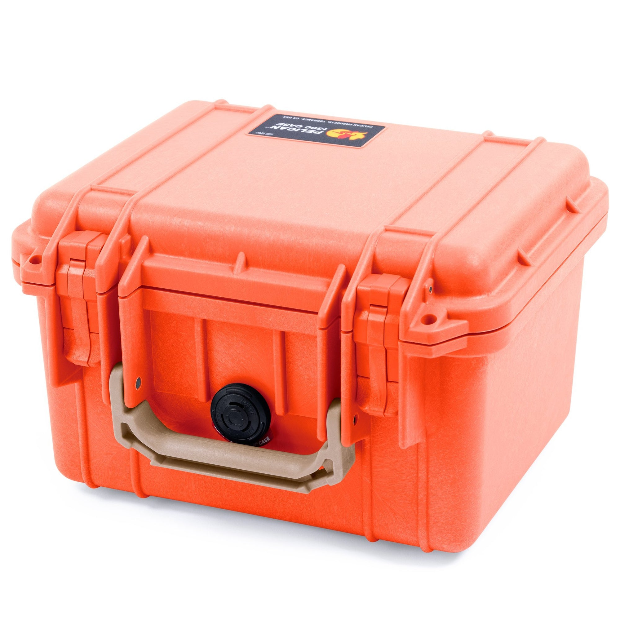 Pelican 1300 Case, Orange with Desert Tan Handle - Pelican Color Case