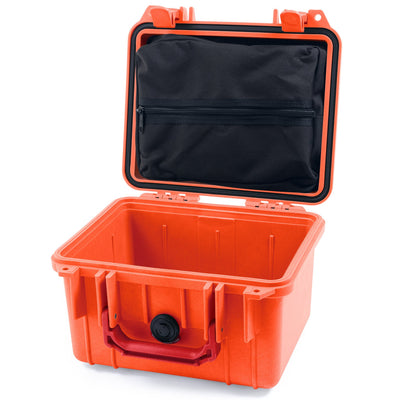 Pelican 1300 Case, Orange with Red Handle - Pelican Color Case