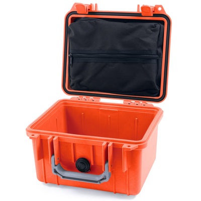 Pelican 1300 Case, Orange with Silver Handle - Pelican Color Case