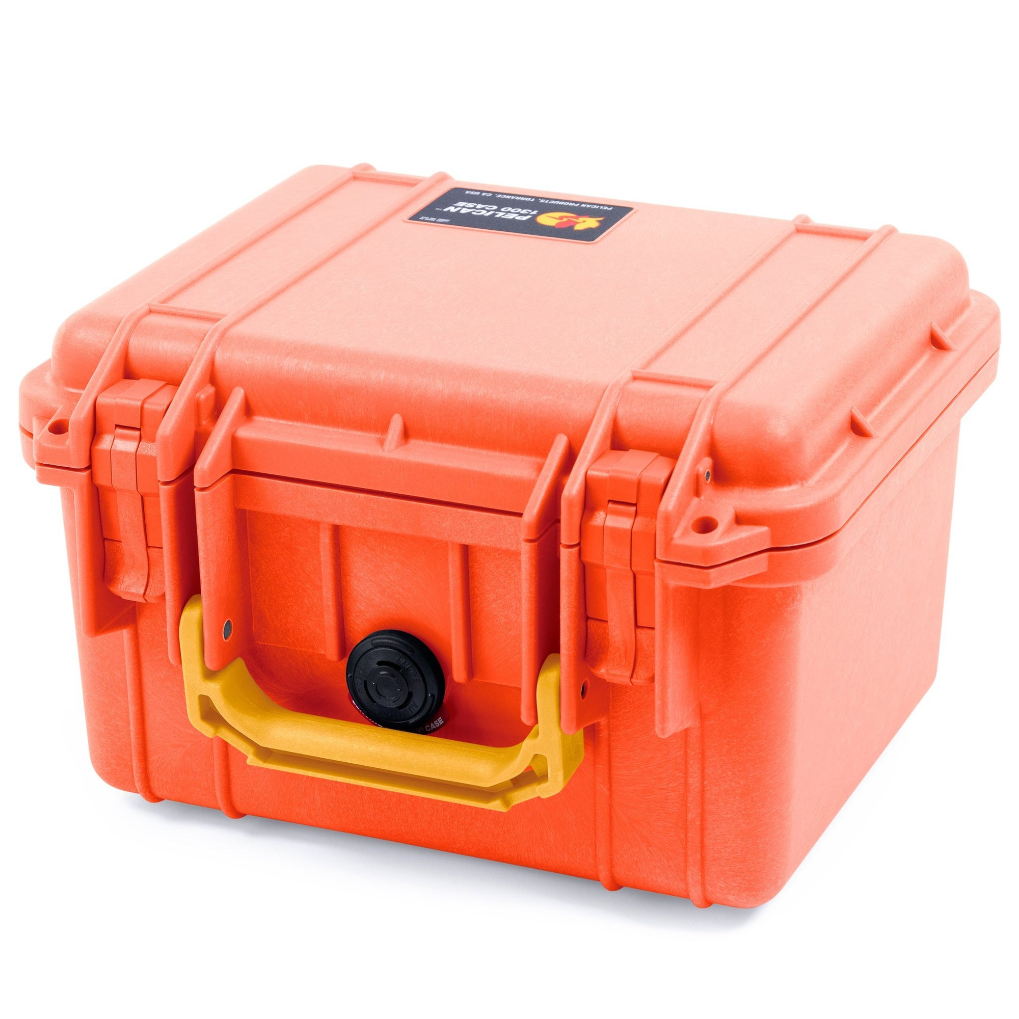 Pelican 1300 Case, Orange with Yellow Handle - Pelican Color Case