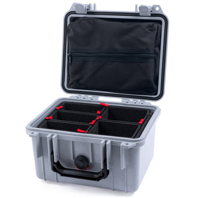 Pelican 1300 Case, Silver with Black Handle - Pelican Color Case