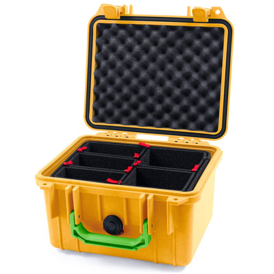 Pelican 1300 Case, Yellow with Lime Green Handle - Pelican Color Case