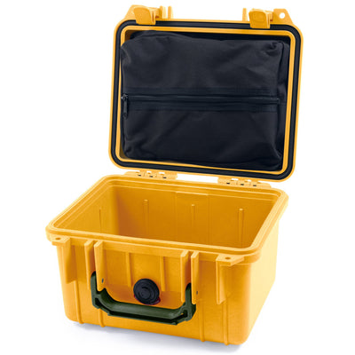 Pelican 1300 Case, Yellow with OD Green Handle - Pelican Color Case