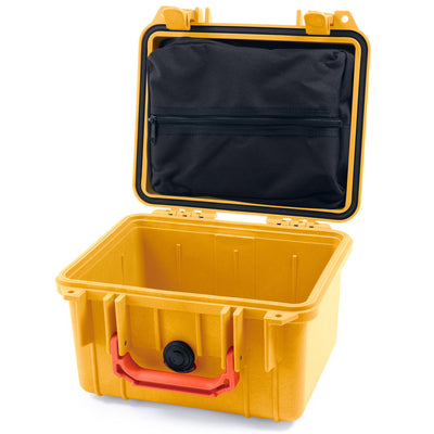 Pelican 1300 Case, Yellow with Orange Handle - Pelican Color Case