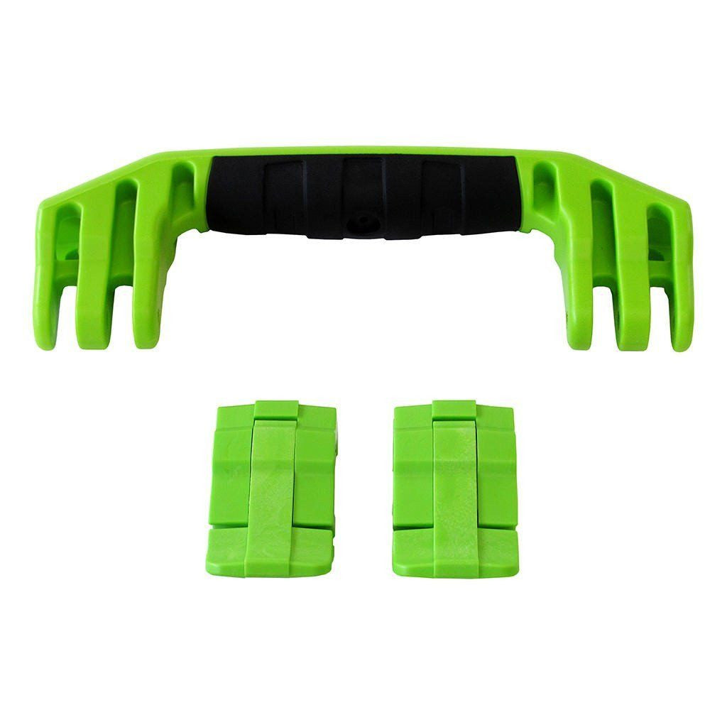 Lime Green Replacement Handle & Latches for Pelican 1450, 1500, 1525, or 1535, One Lime Green Handle, Two Lime Green Latches