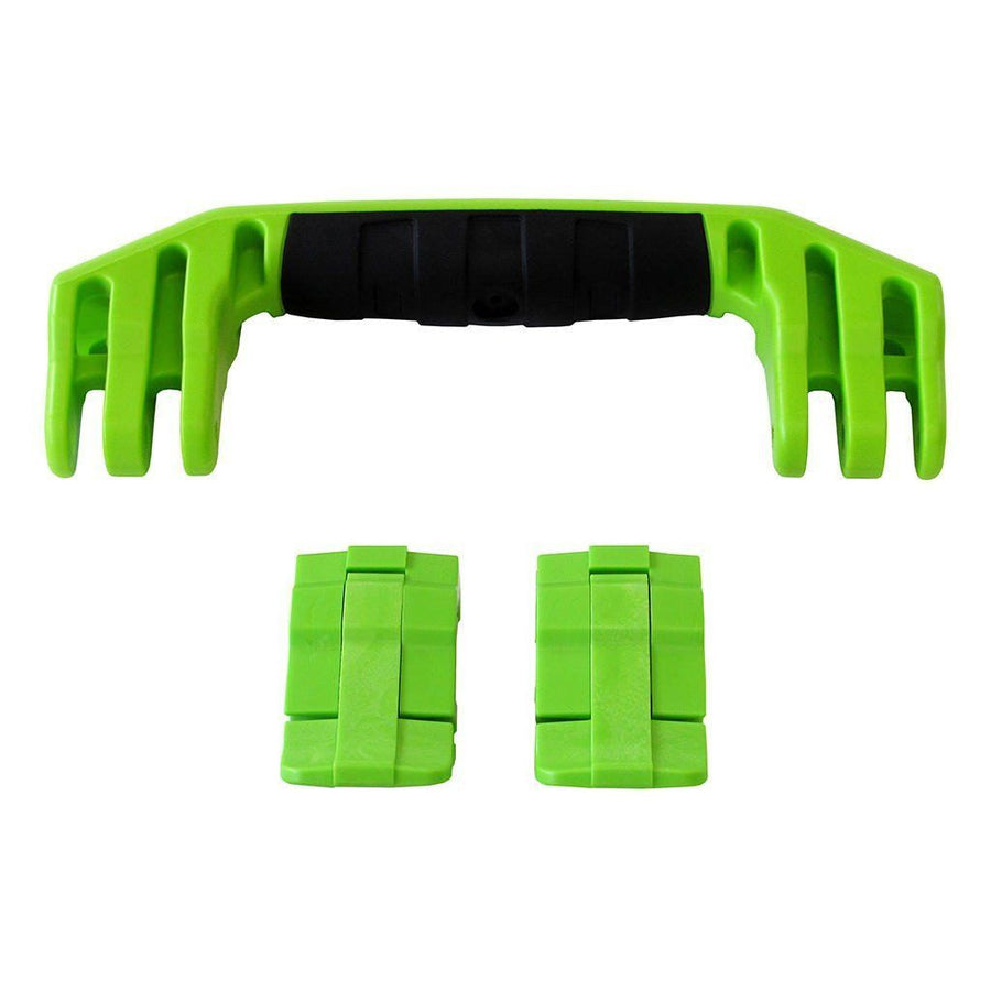 Lime Green Replacement Handle & Latches for Pelican 1450, 1500, 1525, or 1535, One Lime Green Handle, Two Lime Green Latches - Pelican Color Case
