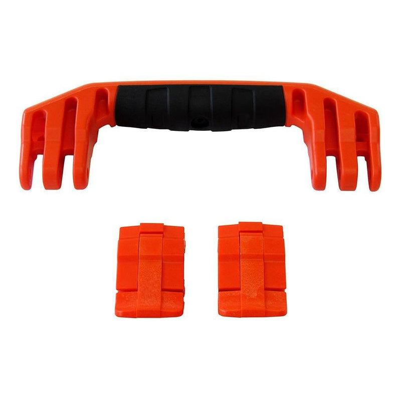 Orange Replacement Handle & Latches for Pelican 1450, 1500, 1525, or 1535, One Orange Handle, Two Orange Latches - Pelican Color Case