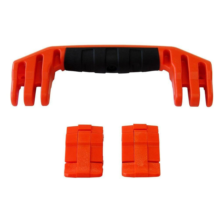 Orange Replacement Handle & Latches for Pelican 1450, 1500, 1525, or 1535, One Orange Handle, Two Orange Latches