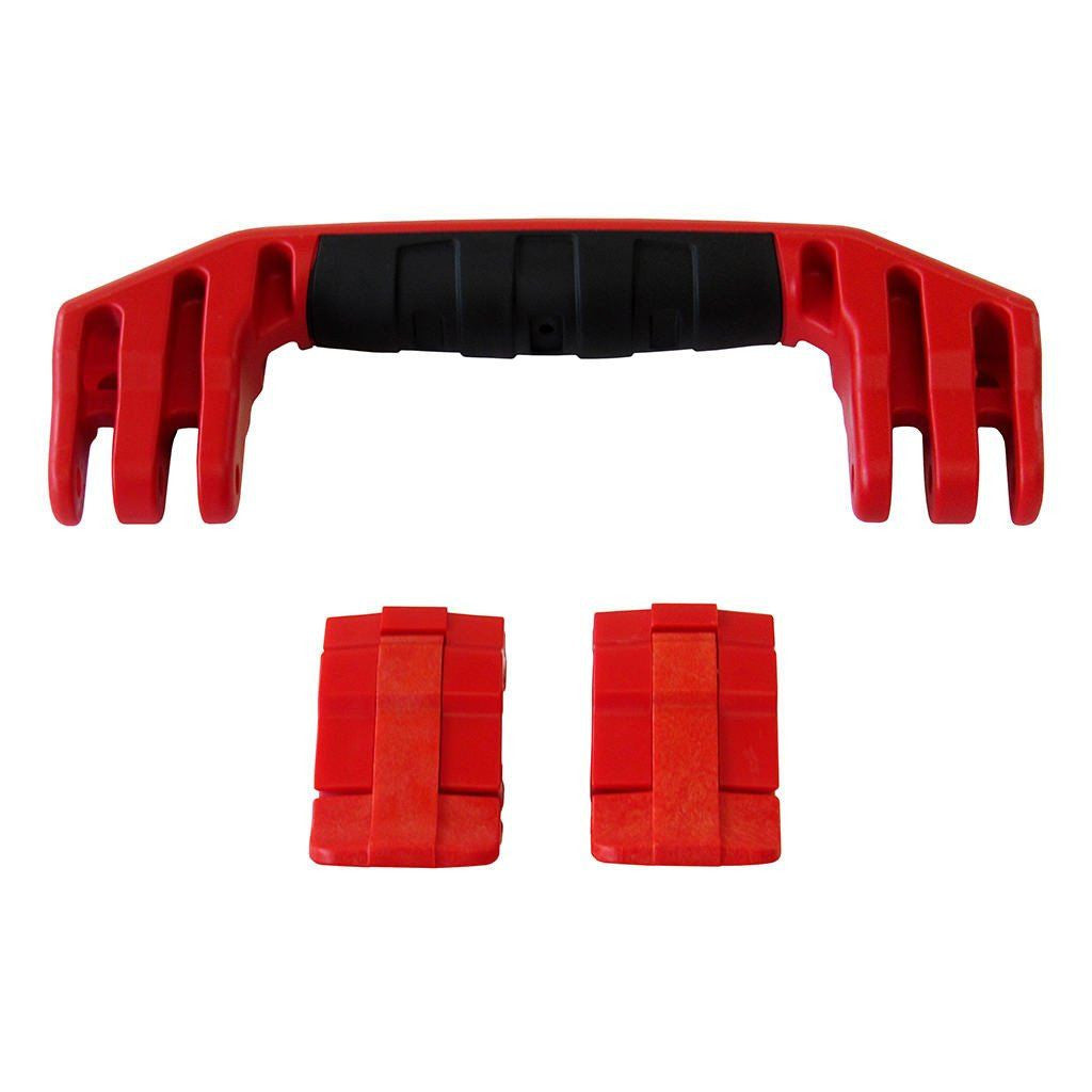 Red Replacement Handle & Latches for Pelican 1450, 1500, 1525, or 1535, One Red Handle, Two Red Latches