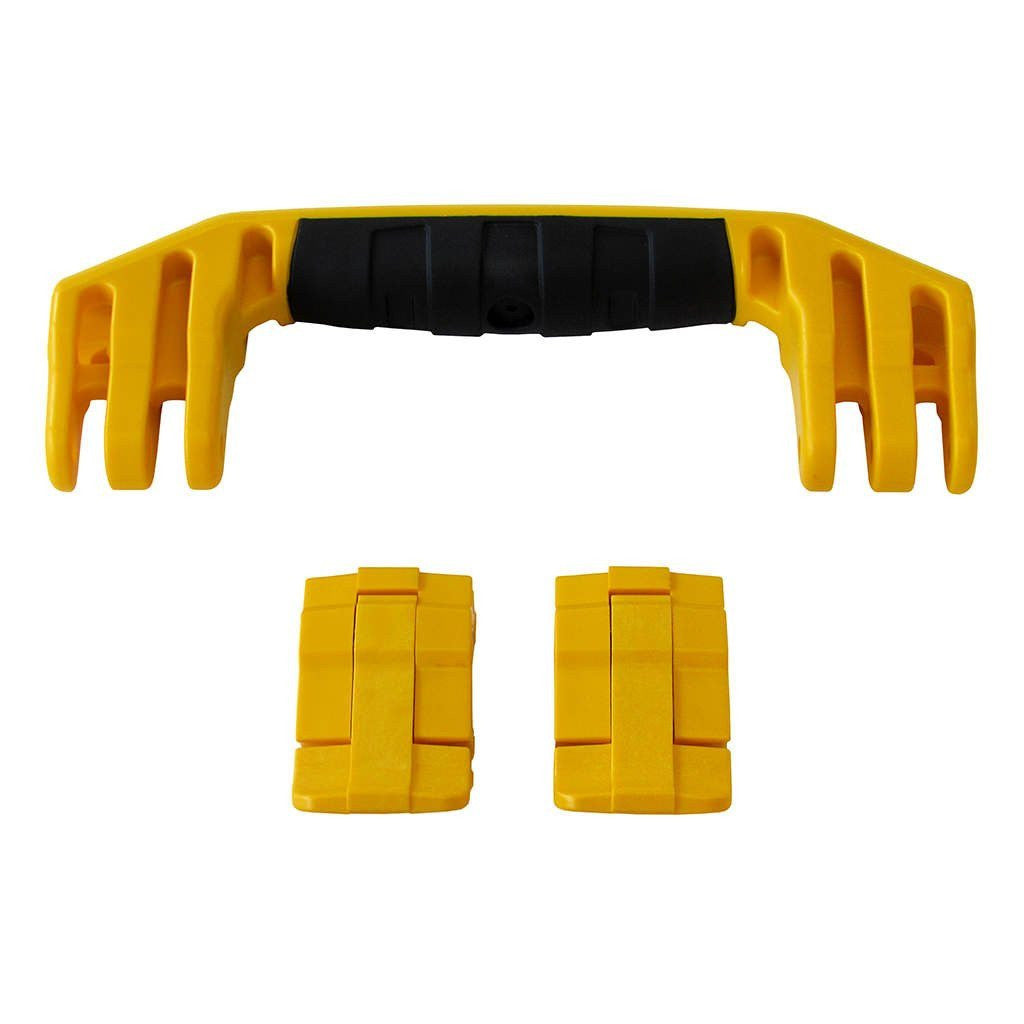 Yellow Replacement Handle & Latches for Pelican 1450, 1500, 1525, or 1535, One Yellow Handle, Two Yellow Latches
