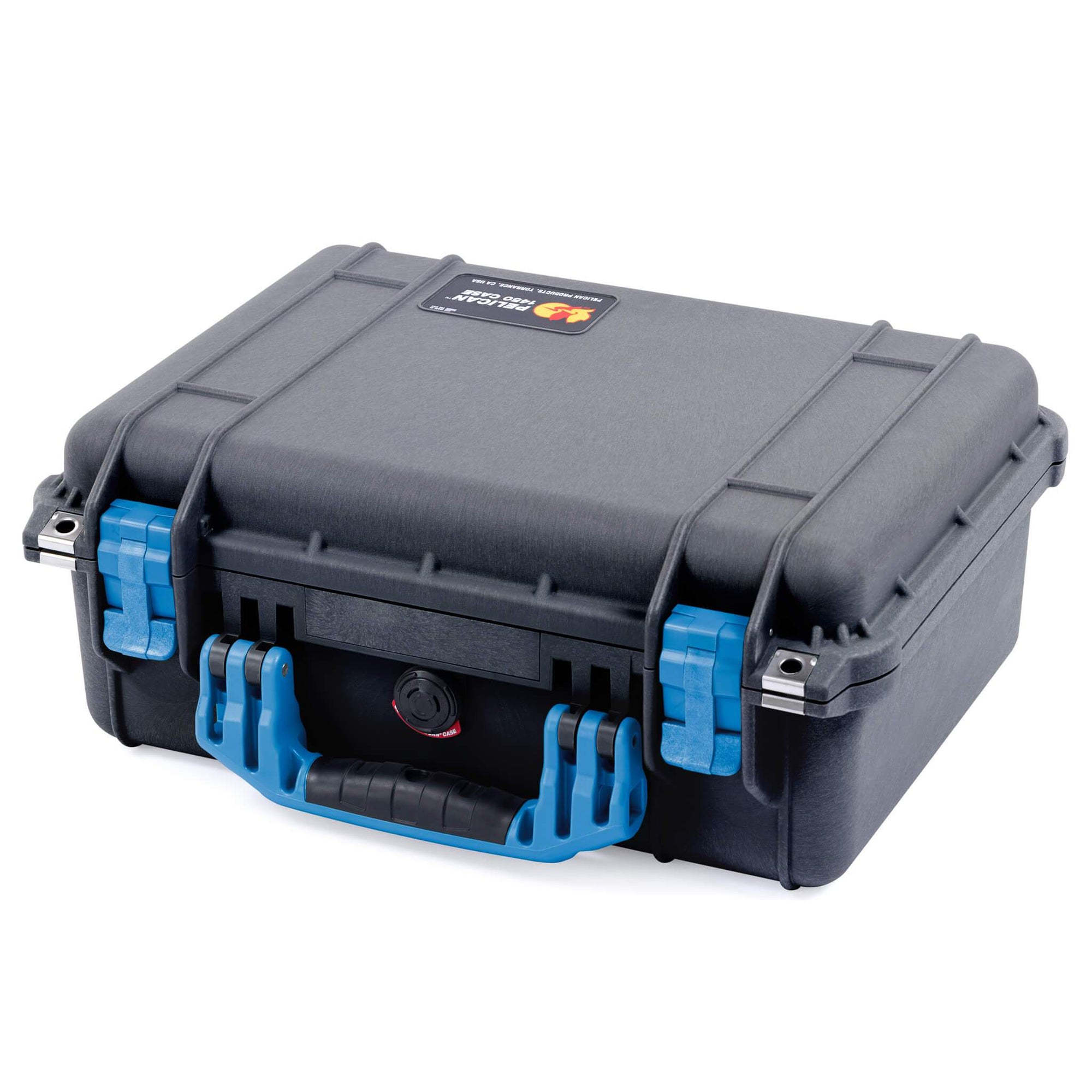 Pelican 1450 Case, Black with Blue Handle & Latches - Pelican Color Case