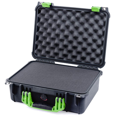 Pelican 1450 Case, Black with Lime Green Handle & Latches - Pelican Color Case