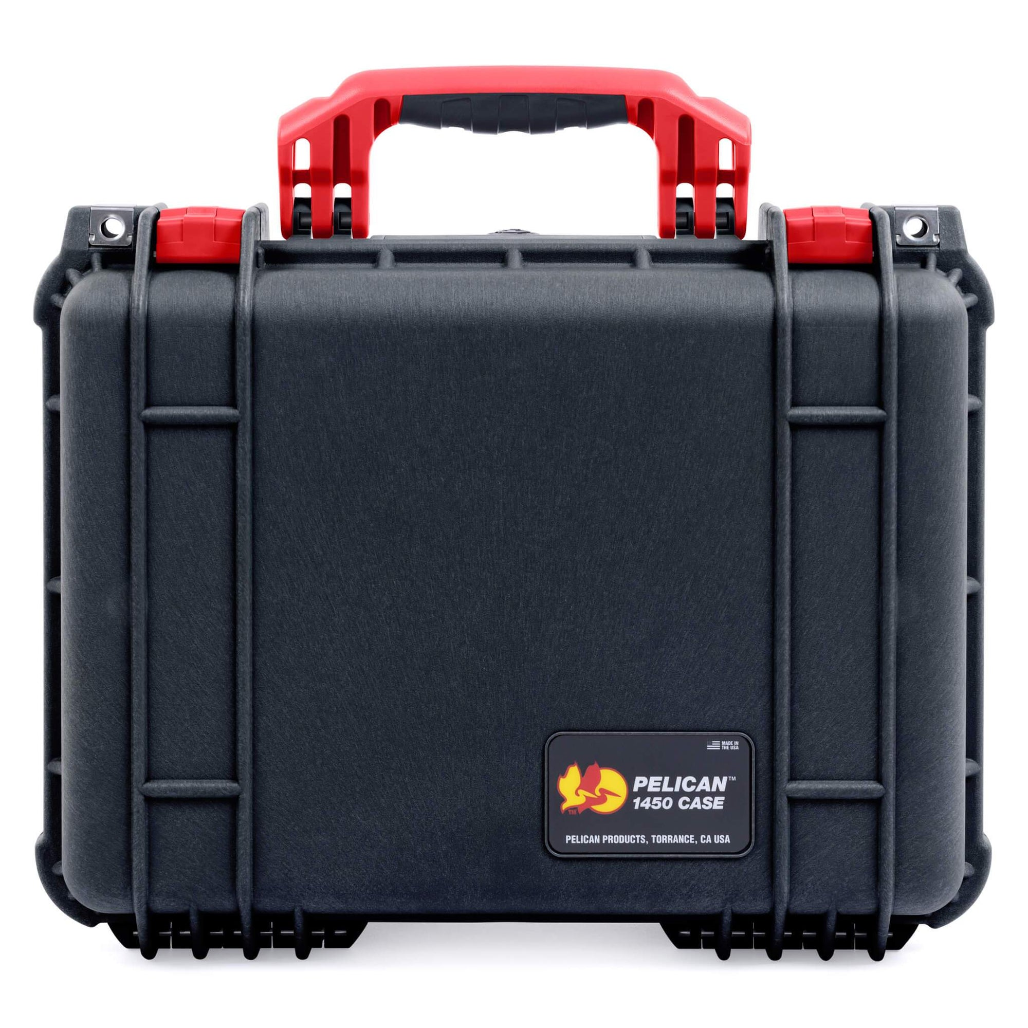 Pelican 1450 Case, Black with Red Handle & Latches