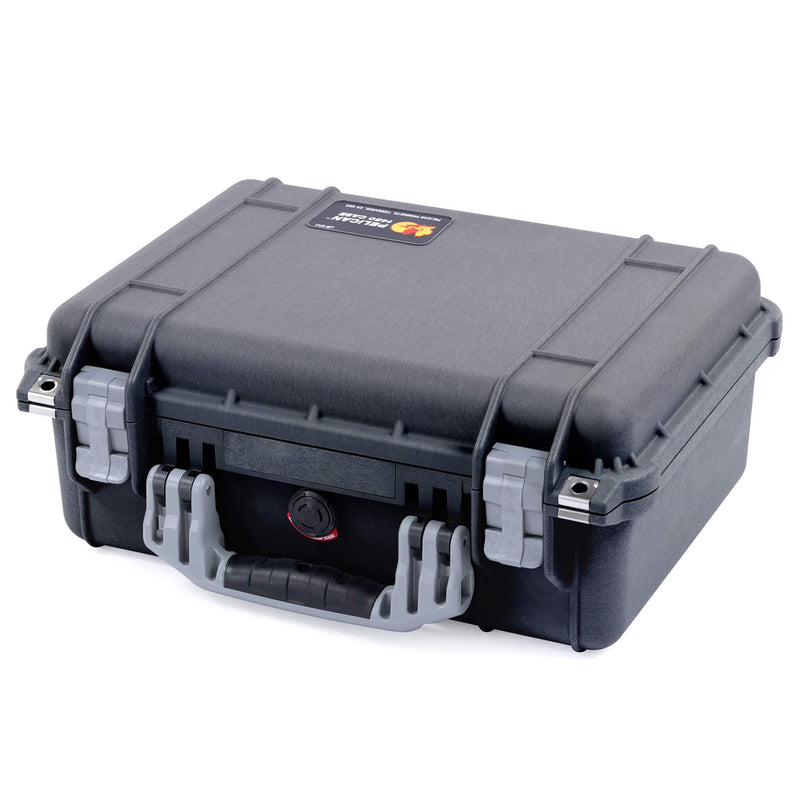 Pelican 1450 Case, Black with Silver Handle & Latches