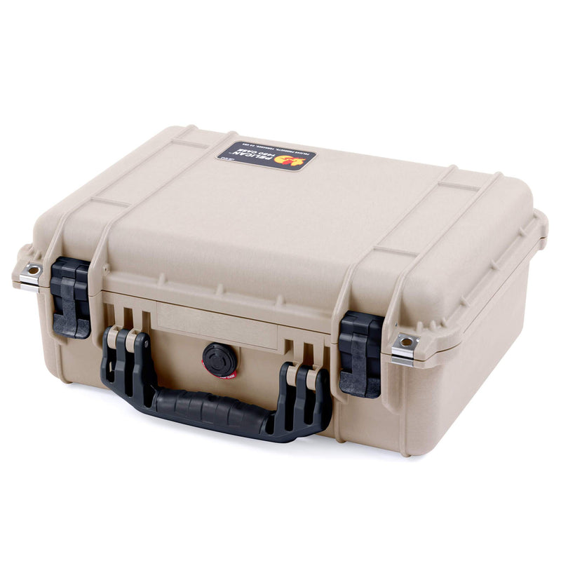 Pelican 1450 Case, Desert Tan with Black Handle & Latches