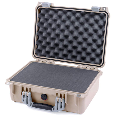 Pelican 1450 Case, Desert Tan with Silver Handle & Latches