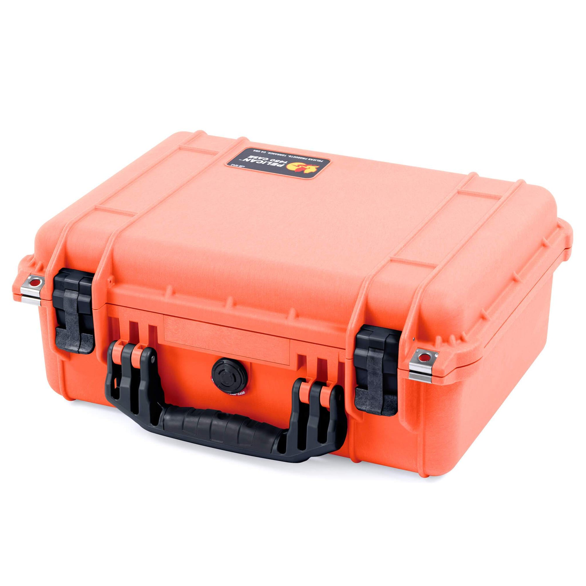 Pelican 1450 Case, Orange with Black Handle & Latches - Pelican Color Case
