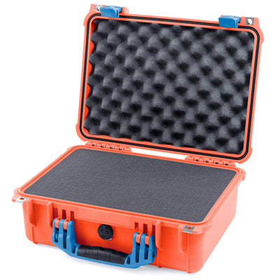 Pelican 1450 Case, Orange with Blue Handle & Latches - Pelican Color Case